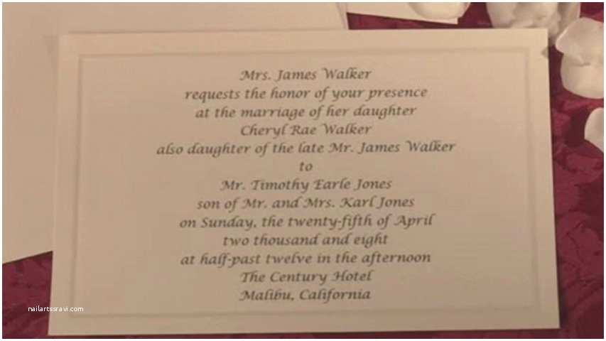Wedding Invitation Deceased Parent How to Word Your Wedding Invitation when the Bride