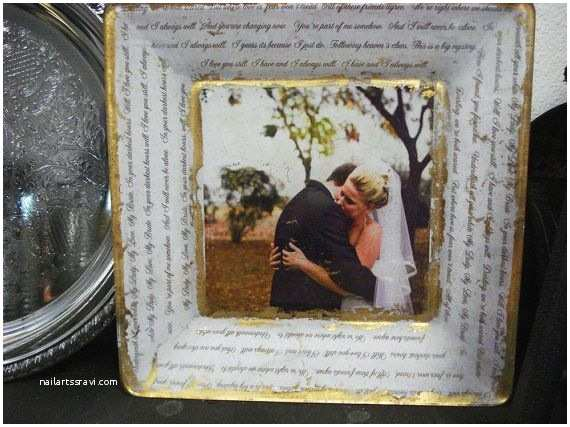 Wedding Invitation Decoupage Tray Custom Wedding Decoupage Plates