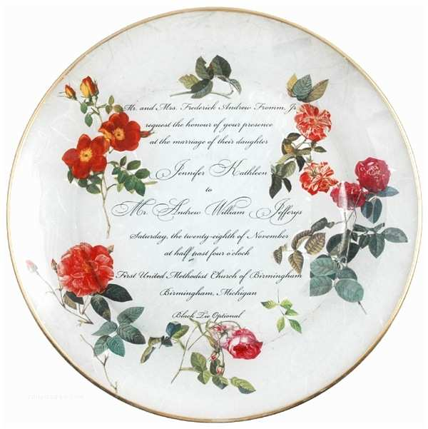 Wedding Invitation Decoupage Tray Decoupage Wedding Plate