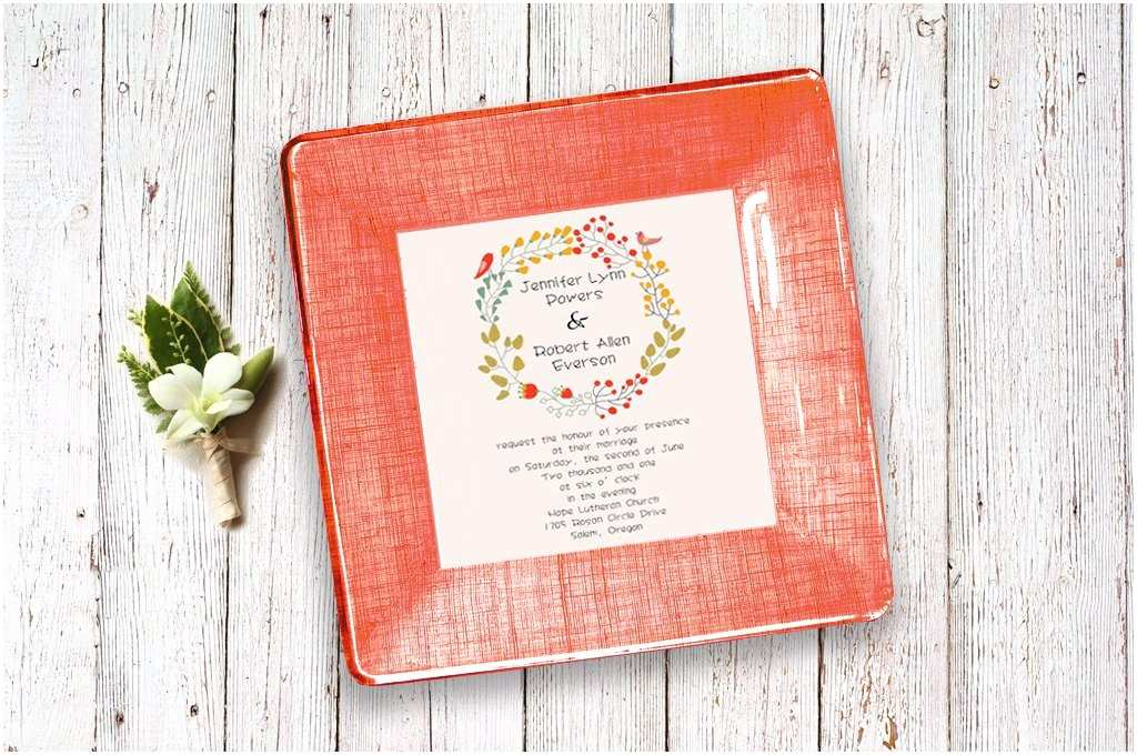 Wedding Invitation Decoupage Tray Wedding Invitation Tray Couples T Wedding Plate