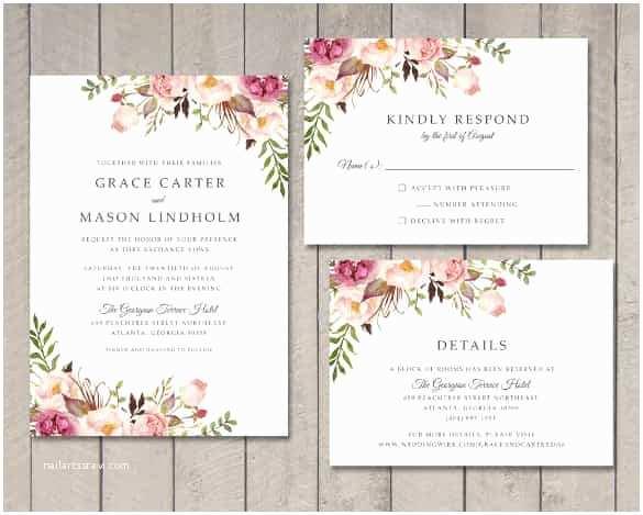 Wedding Invitation Design Templates Free Download 74 Wedding Invitation Templates Psd Ai