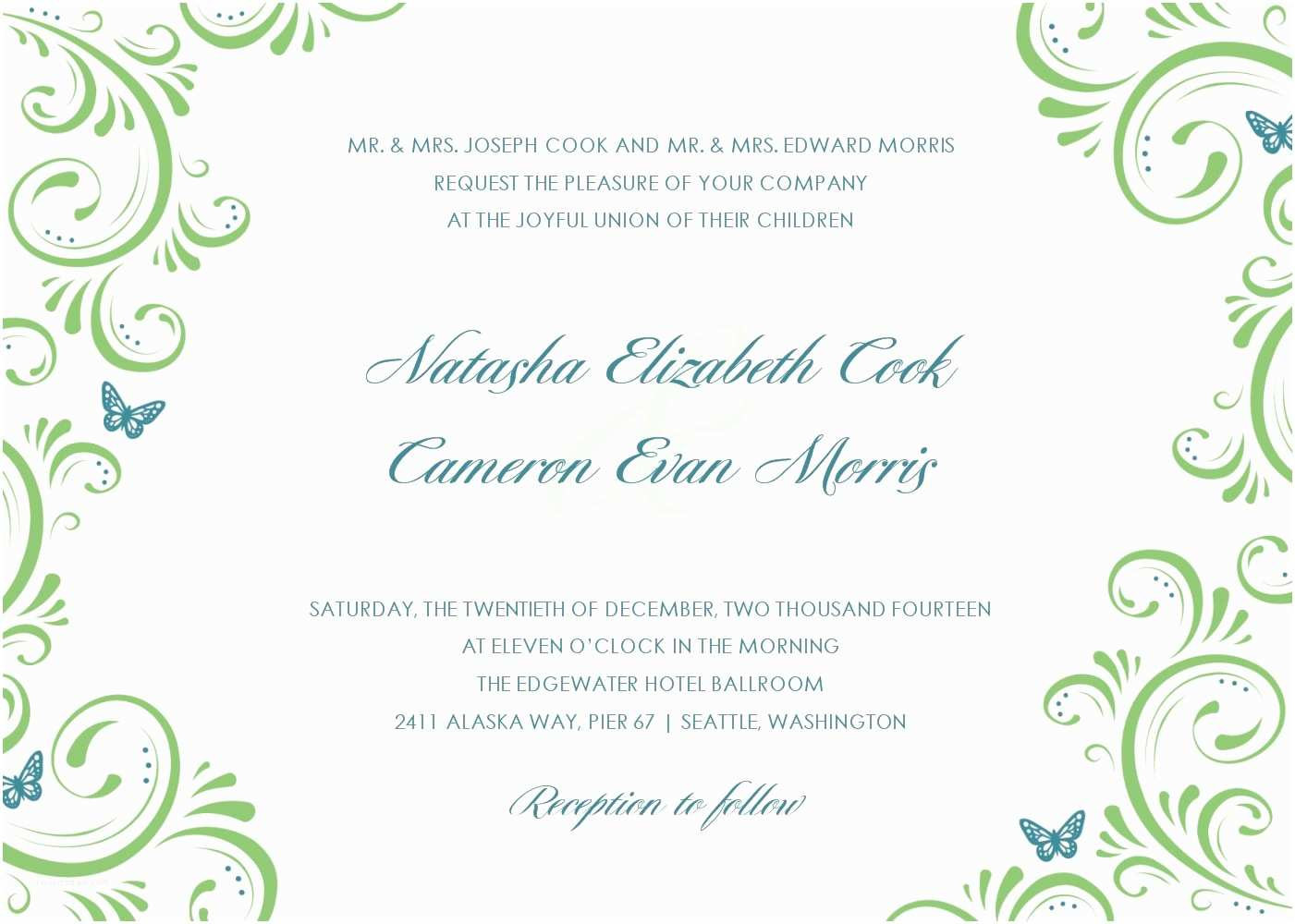 Wedding Invitation Design Templates Free Download Beautiful Wedding Invitation Templates