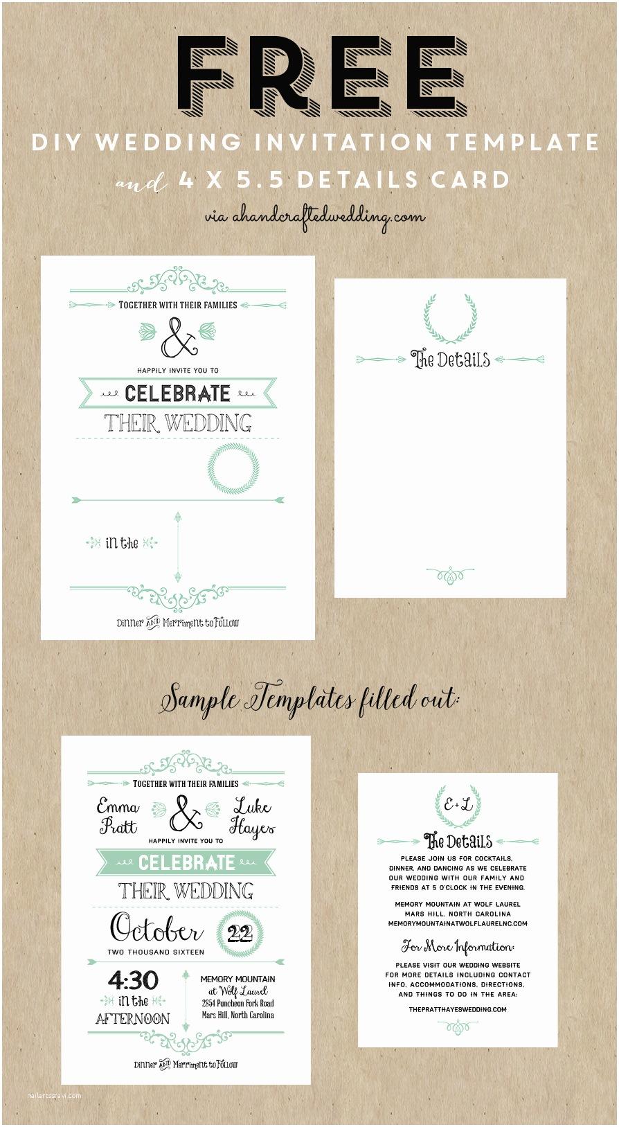 Wedding Invitation Design Templates Free Download Free Printable Wedding Invitation Template
