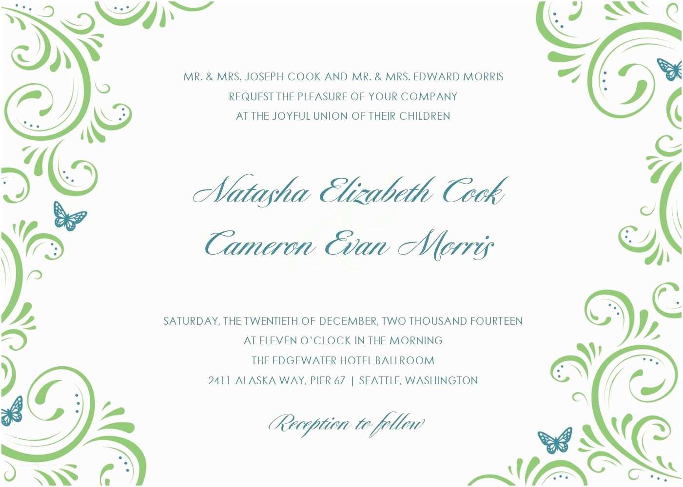 Wedding Invitation Designs Beautiful Wedding Invitation Templates