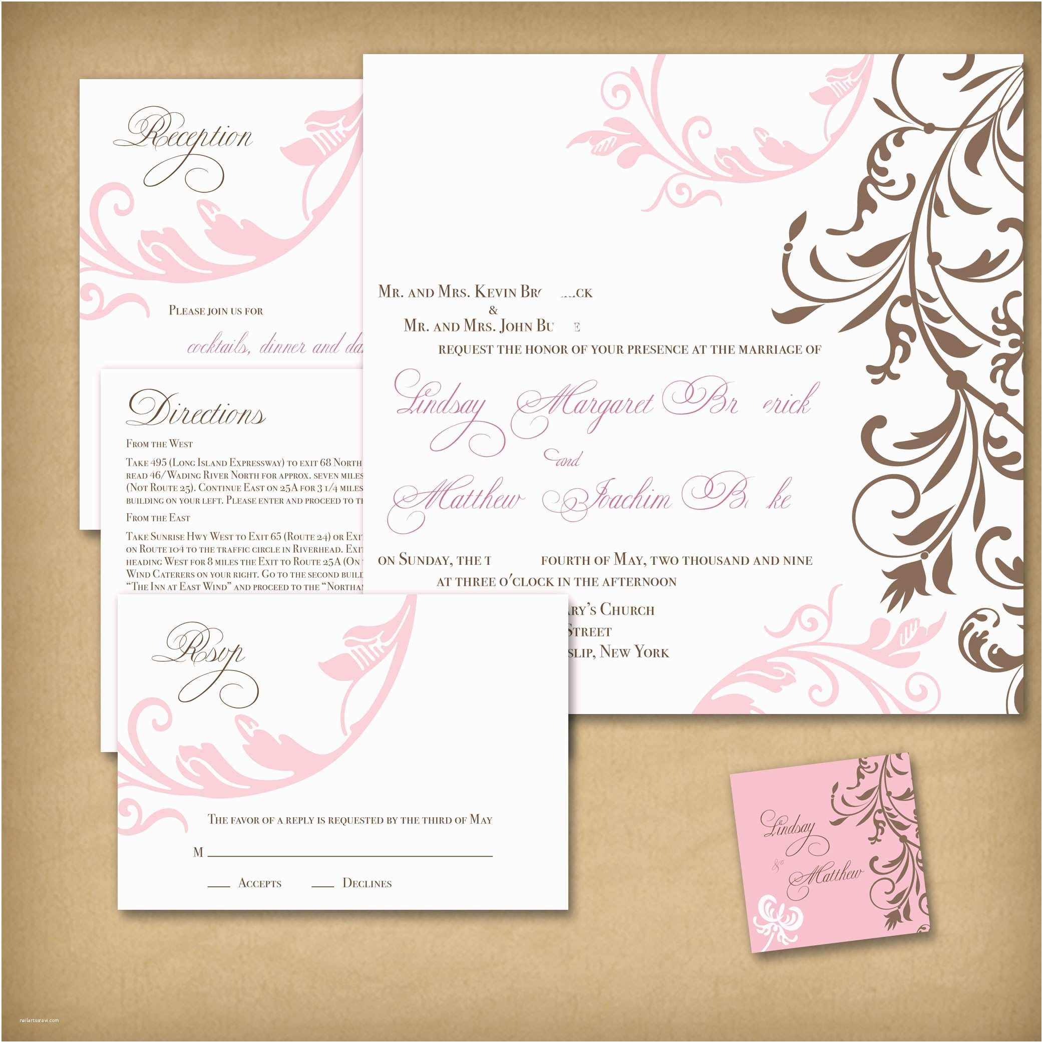 Wedding Invitation Designs Cute Wedding Invitations