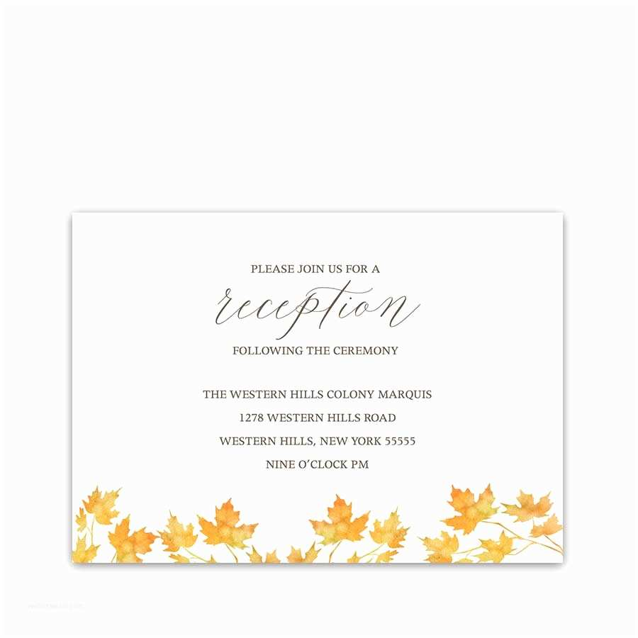 Wedding Invitation Details Card Fall Wedding Invitation Archives Noted Occasions