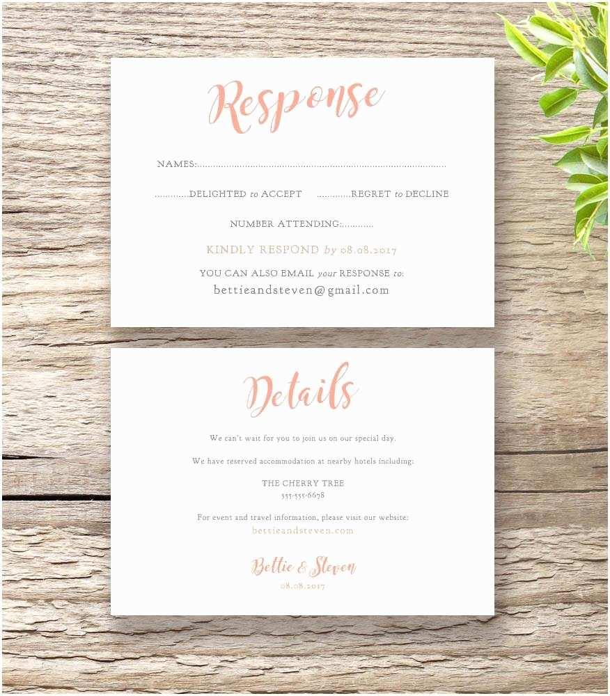 Wedding Invitation Details Details Card Wedding