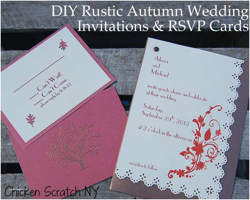 Wedding Invitation Diy Diy Autumn Wedding Invitations