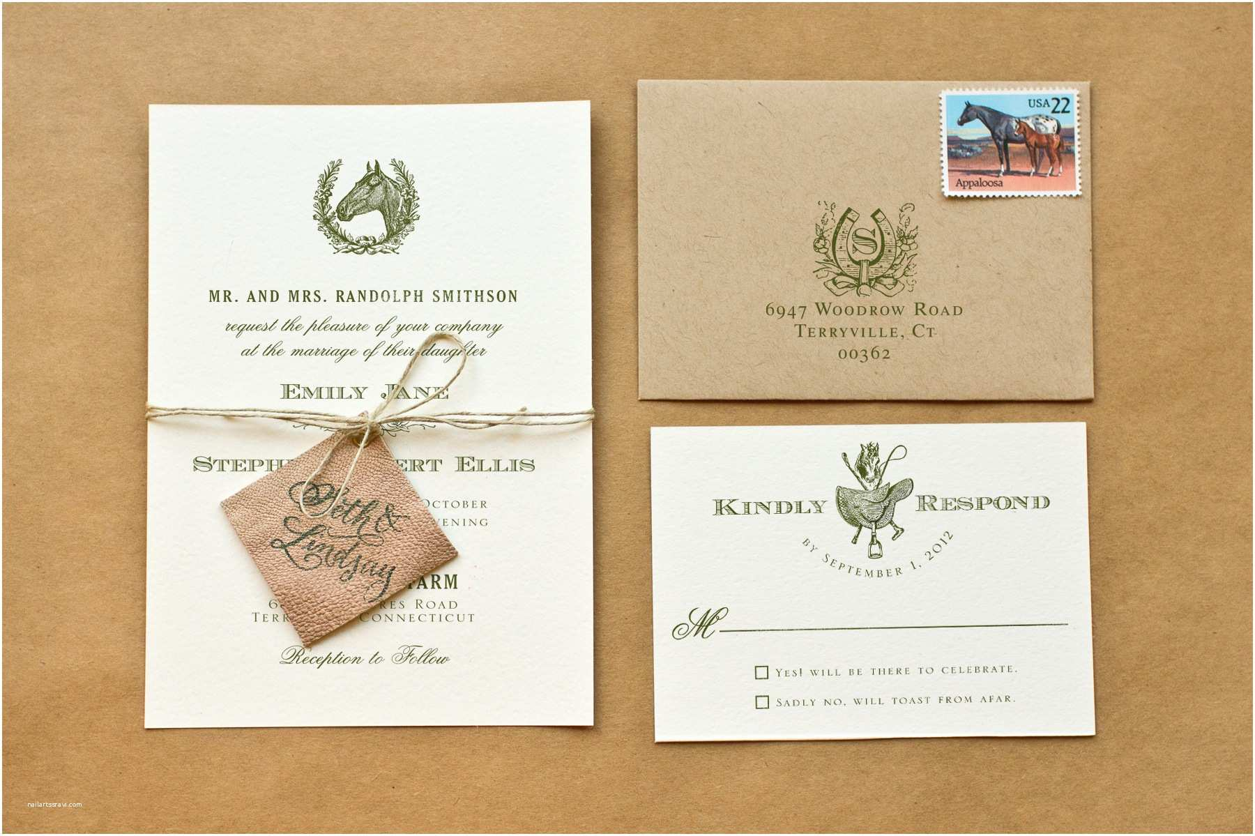Wedding Invitation Diy Diy Rubber Stamp Equestrian Wedding Invitations