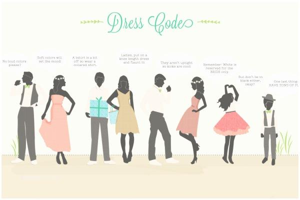 Wedding Invitation Dress Code Dresscodes Verklaar Je