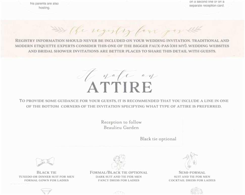 Wedding Invitation Dress Code Formal Wedding Invitation Wording Dress Code New
