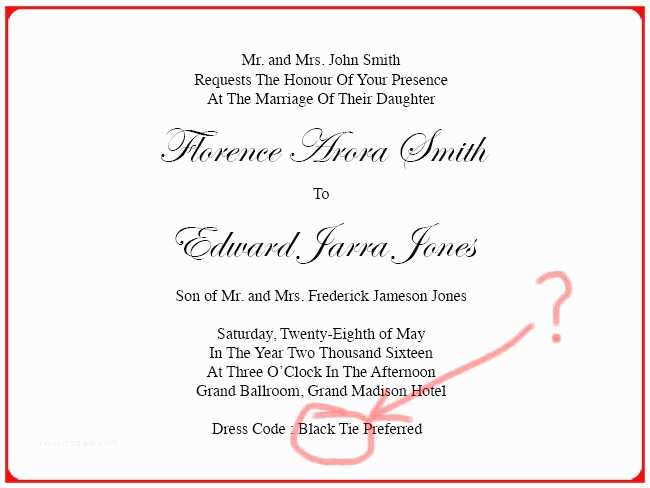 Wedding Invitation Dress Code Invitation Card Dress Code Image Collections Invitation