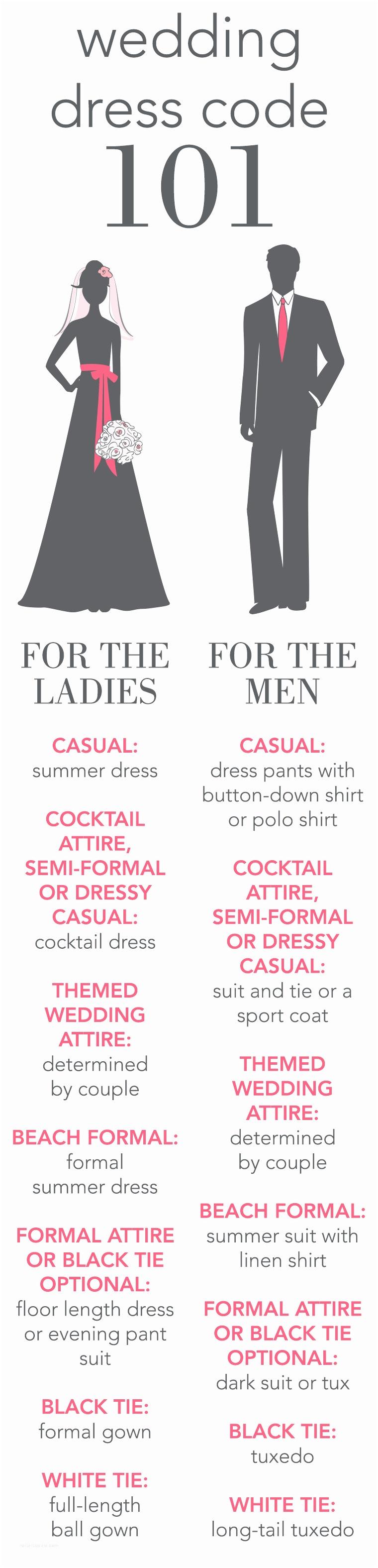 Wedding Invitation Dress Code Wedding Dress Code 101