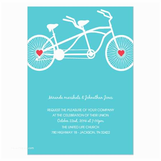 Wedding Invitation Ecards Blue Bike Wedding Invitation Invitations & Cards On Pingg