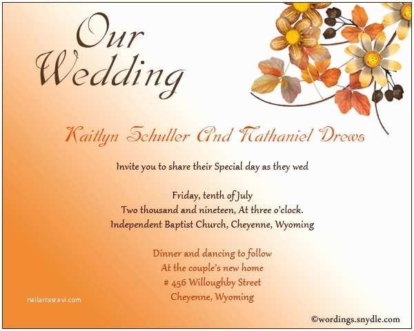 Wedding Invitation Ecards Informal Wedding Invitation Wording Samples Wordings and