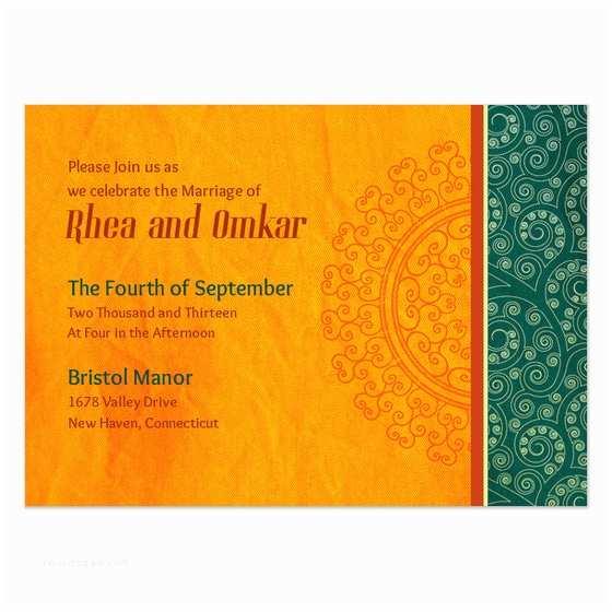Wedding Invitation Ecards orange Flair Indian Wedding Invitations & Cards On Pingg
