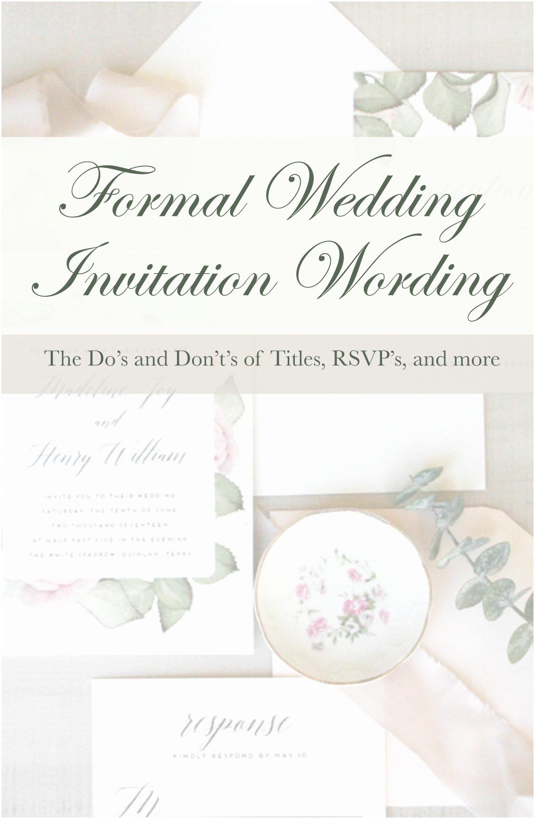 Wedding Invitation Edicate Quick Guide to Wedding Invitation Wording Etiquette Pink