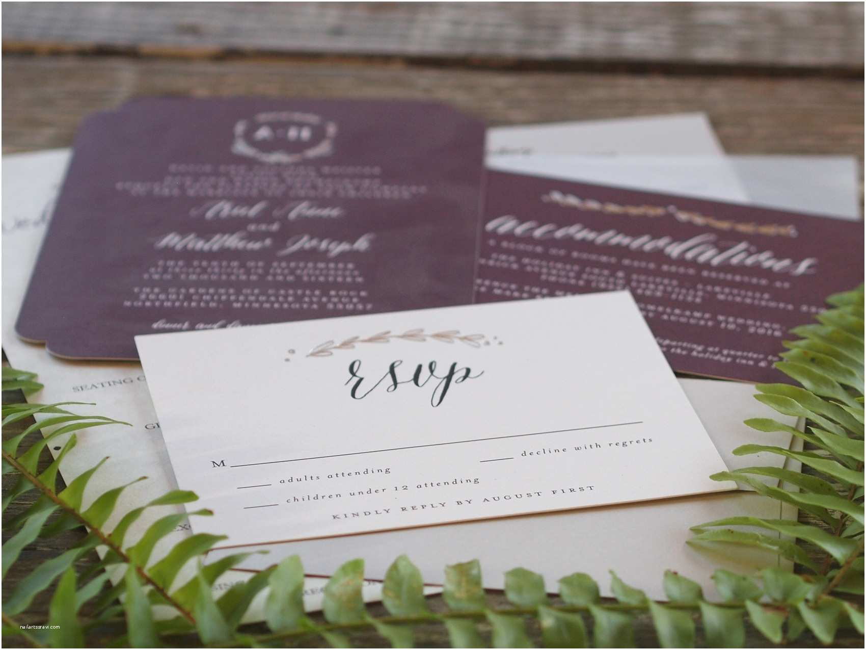 Wedding Invitation Edicate the Gardens Of Castle Rock