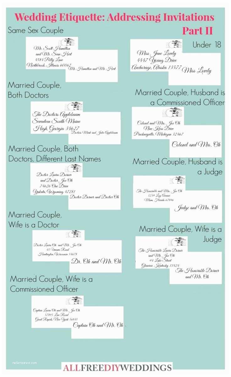 Wedding Invitation Edicate Wedding Invitation Etiquette How to Address Wedding