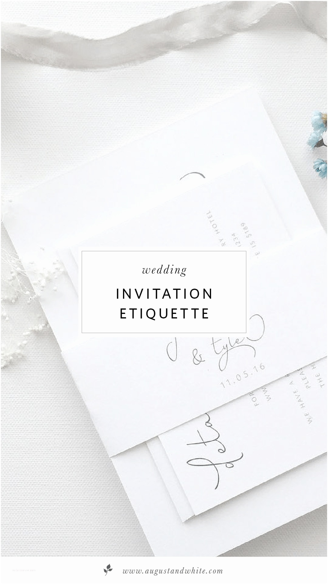 Wedding Invitation Edicate Wedding Invitation Etiquette
