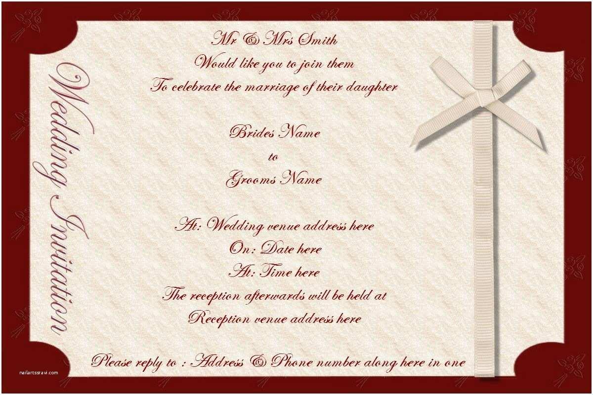 Wedding Invitation Email Best Wedding Invitations Cards Wedding Invitation Card