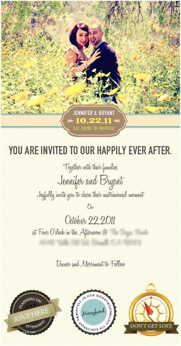 Wedding Invitation Email Email Wedding Invitation by Vincent Valentino Via Behance