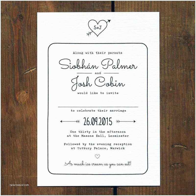 Wedding Invitation Email Heart and Arrow Wedding Invitation Feel Good Wedding