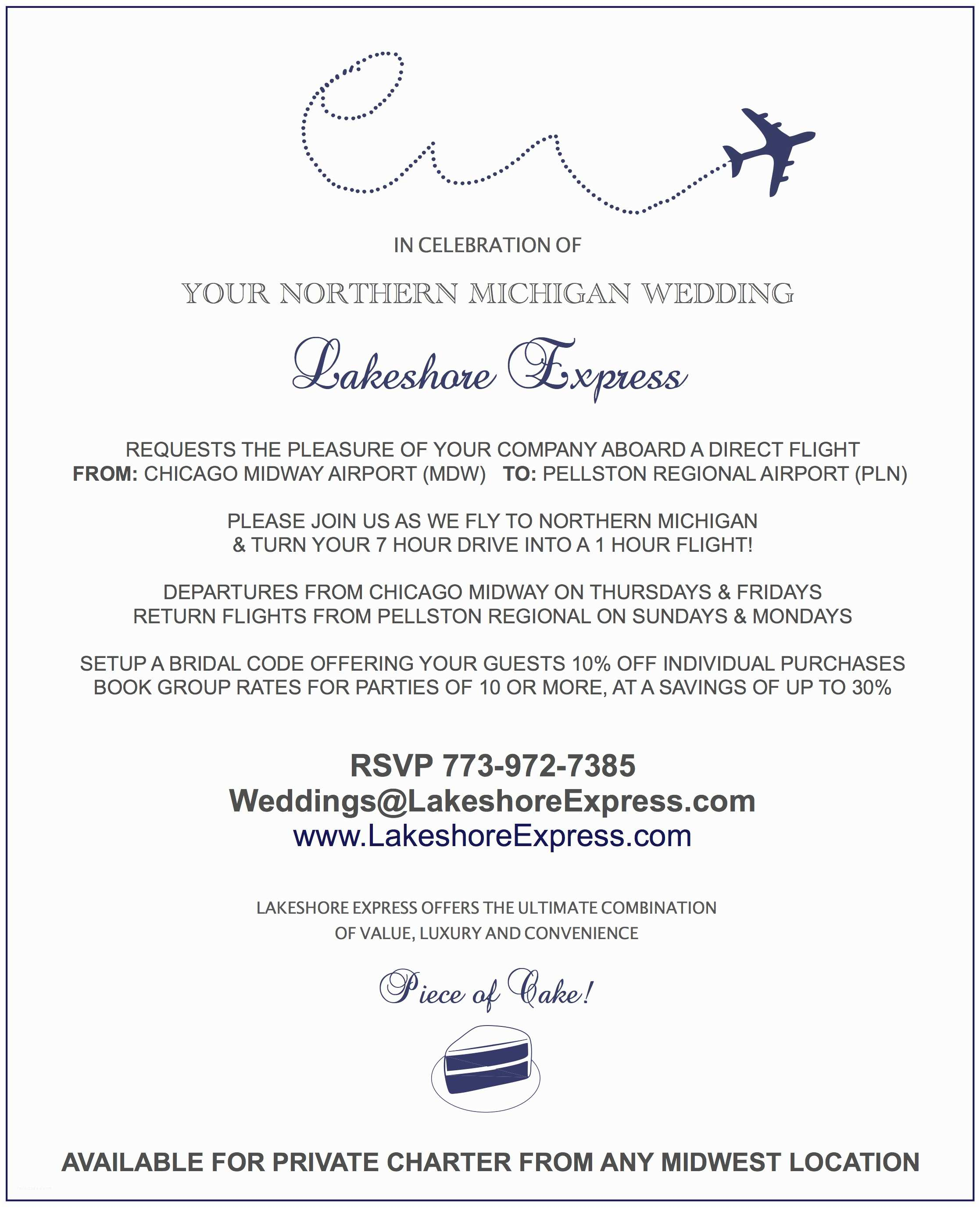 Wedding Invitation Email Make Traveling to Your northern Michigan Wedding A Piece