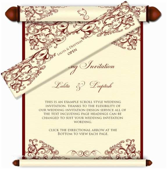 Wedding Invitation Email Scroll Style Email Wedding Invitation 29 Email Wedding