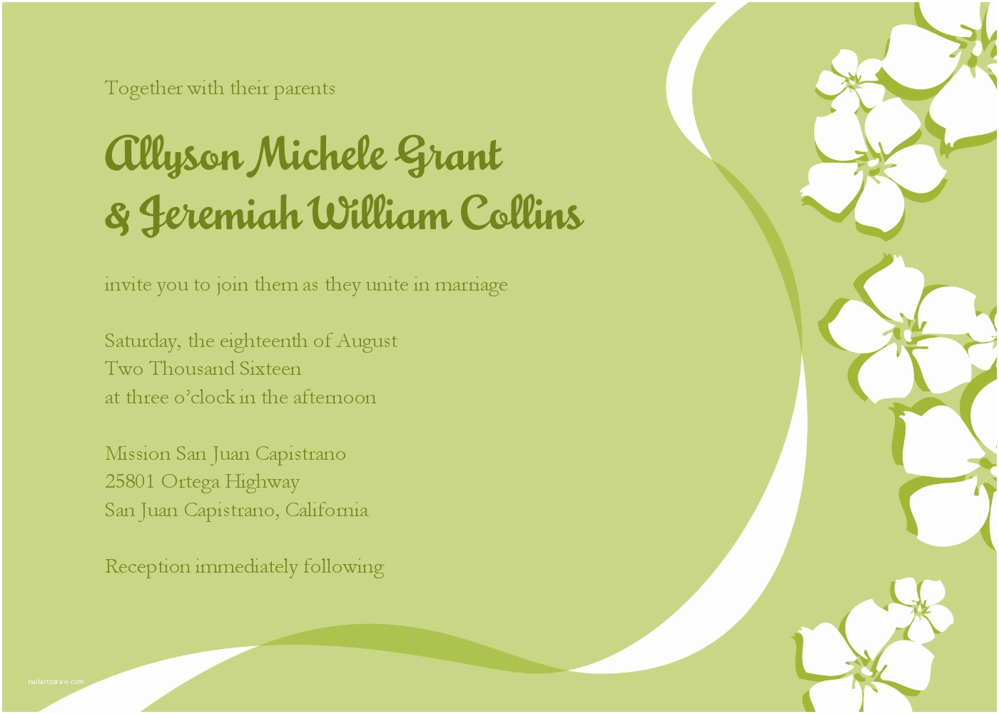 Wedding Invitation Email Template Email Wedding Invitations