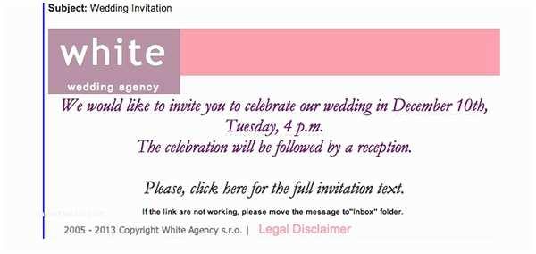 Wedding Invitation Email Template Wedding Invitation Malware Emails