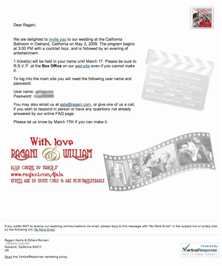 Wedding Invitation Email Wedding Invitation Email – Gangcraft