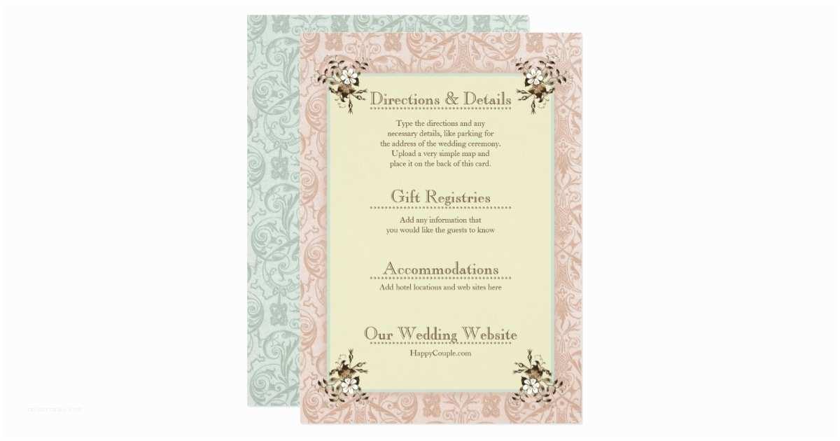 Wedding Invitation Enclosures 1900s Vintage Wedding Invitation Enclosure Cards