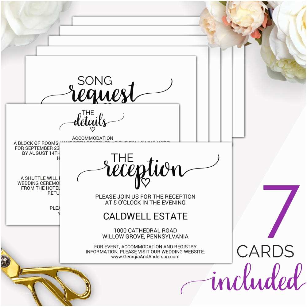 Wedding Invitation Enclosures 7 Printable Wedding Enclosure Cards Wedding Details Card