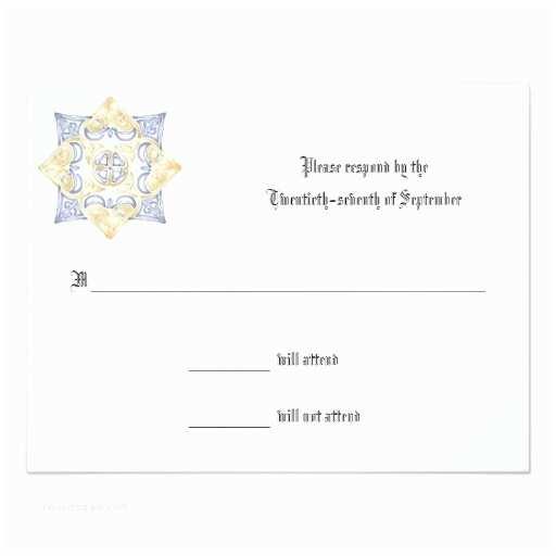 Wedding Invitation Enclosures Celtic Wedding Invitation Response Enclosure