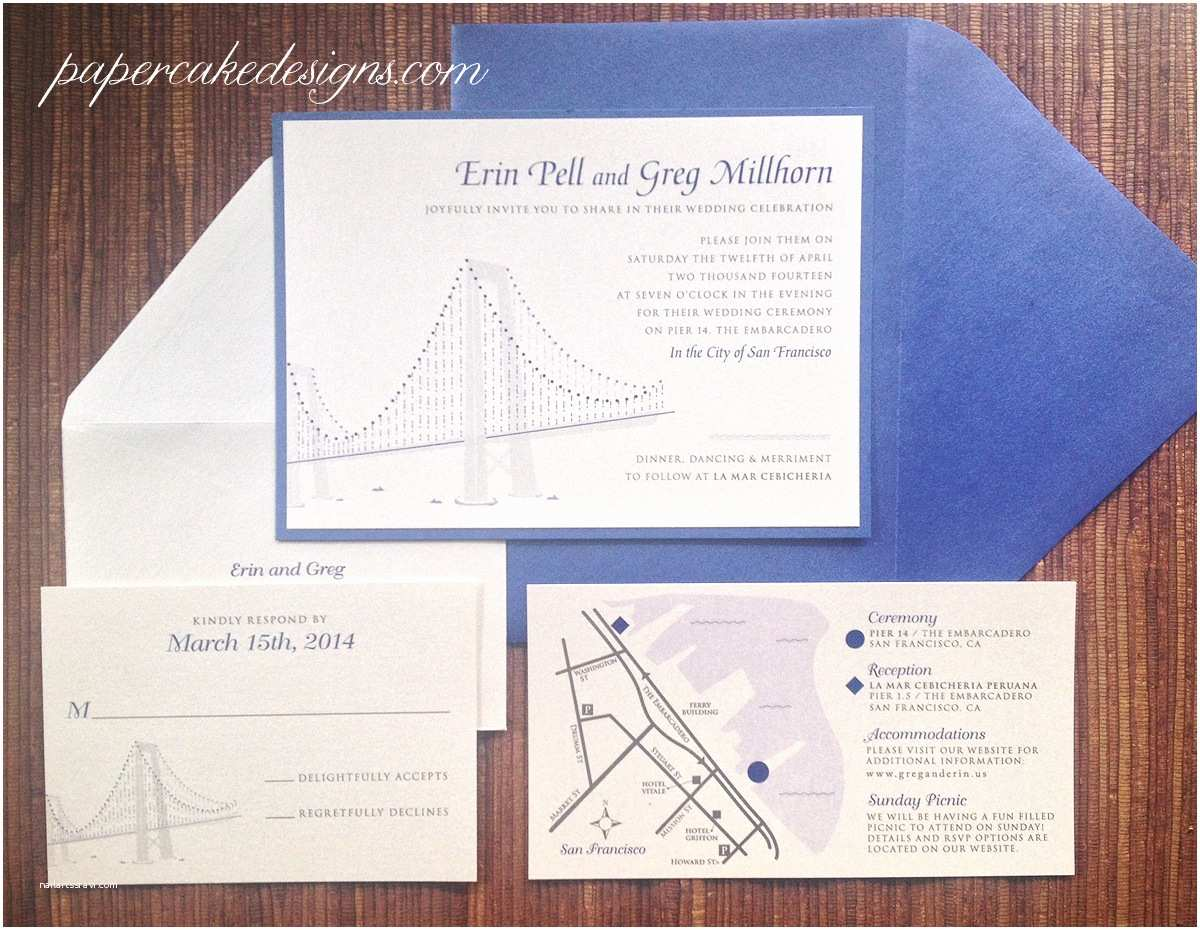 Wedding Invitation Enclosures [custom Wedding Invitation] City Skyline – Papercake Designs