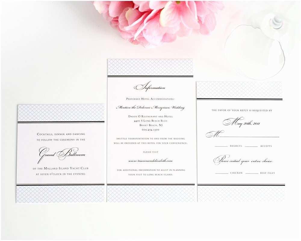 Wedding Invitation Enclosures Elegance Monogram Wedding Invitations Wedding