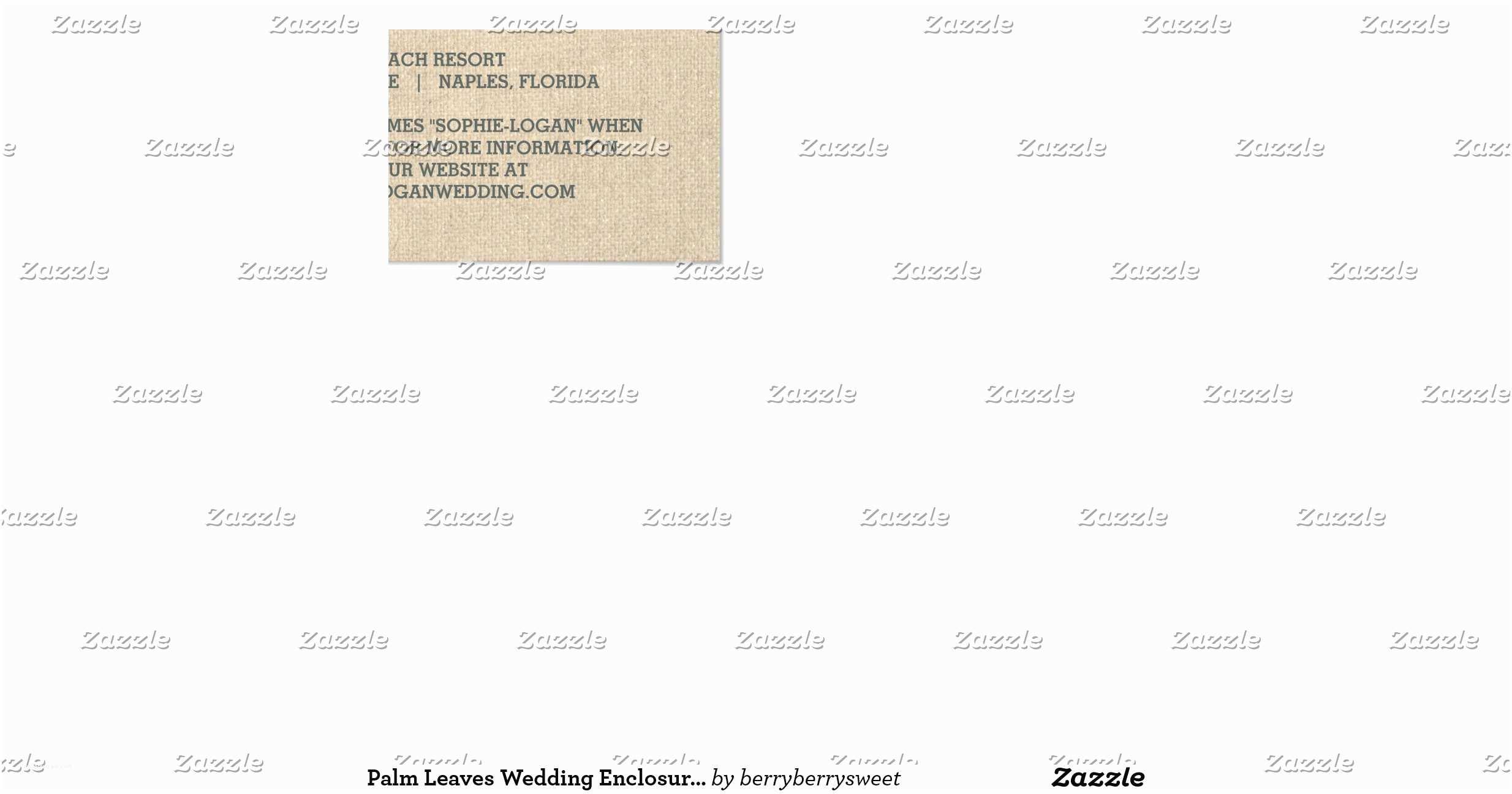 "Wedding Invitation Enclosures Palm Leaves Wedding Enclosure Cards 3 5"" X 5"" Invitation"