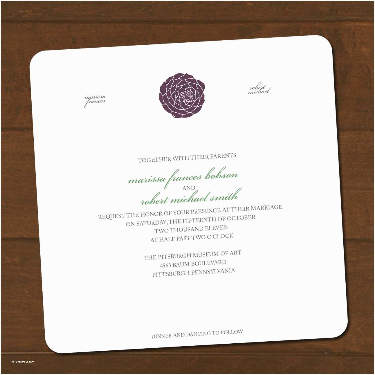 Wedding Invitation Enclosures Succulent Wedding Invitation & Enclosure by thepaperplume