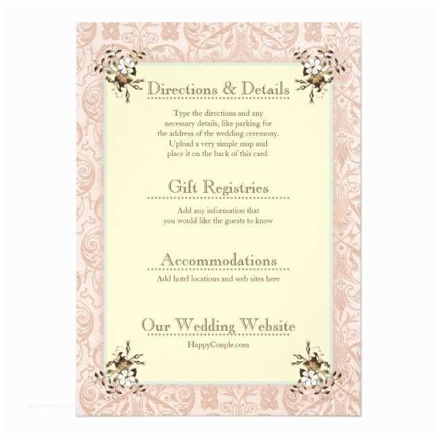 Wedding Invitation Enclosures Vintage Victorian Wedding Invitation Enclosures