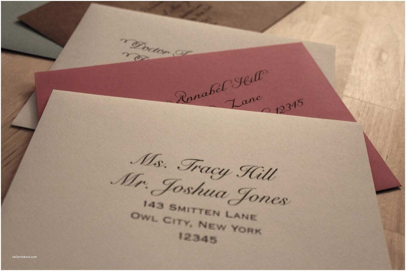 Wedding Invitation Envelope Address Template Addressing Invitations