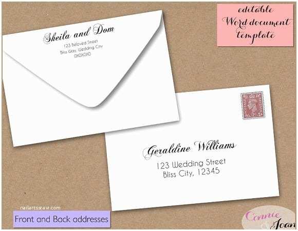 Wedding Invitation Envelope Address Template Wedding Invitation Envelope Template Word Yaseen for