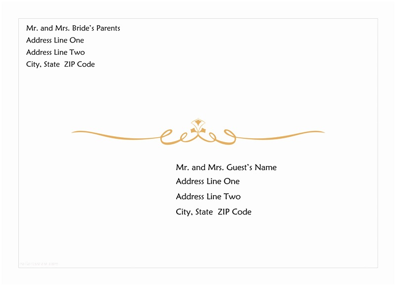 Wedding Invitation Envelope Address Template Wedding Invitation Wording Wedding Invitation Envelope