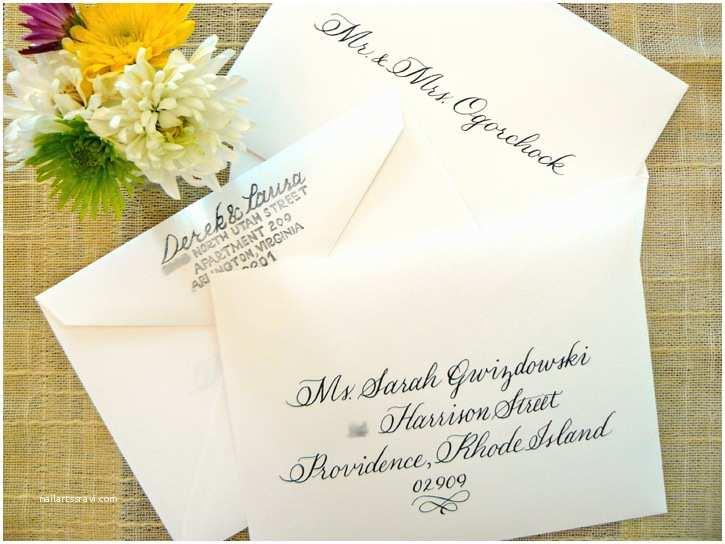Wedding Invitation Envelope Etiquette Limefish Studio Simply Handwritten Diy Wedding