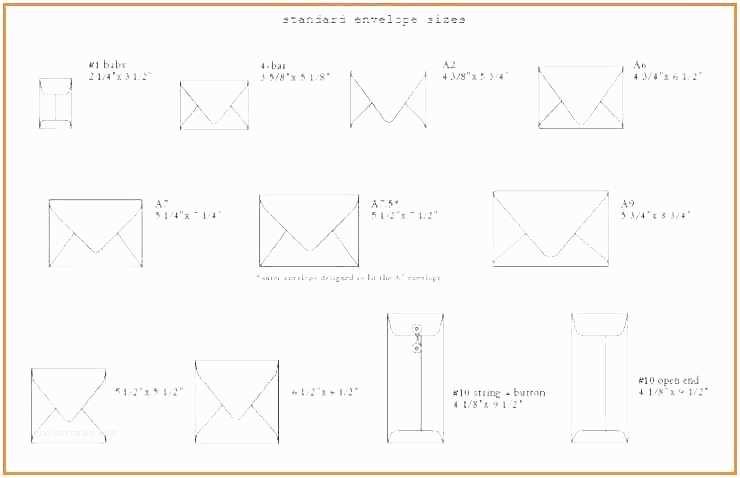 size of invitation envelopes