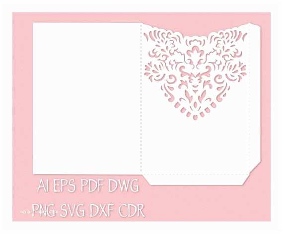 Wedding Invitation Envelope Template 110 Best Images About Laser Cut Wedding Invitations On