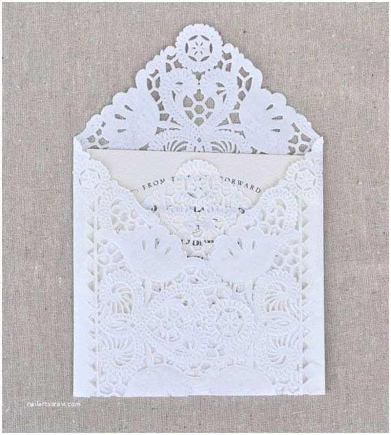 Wedding Invitation Envelope Template Diy Lace Envelope Kit Wedding Invitation Envelope Liners
