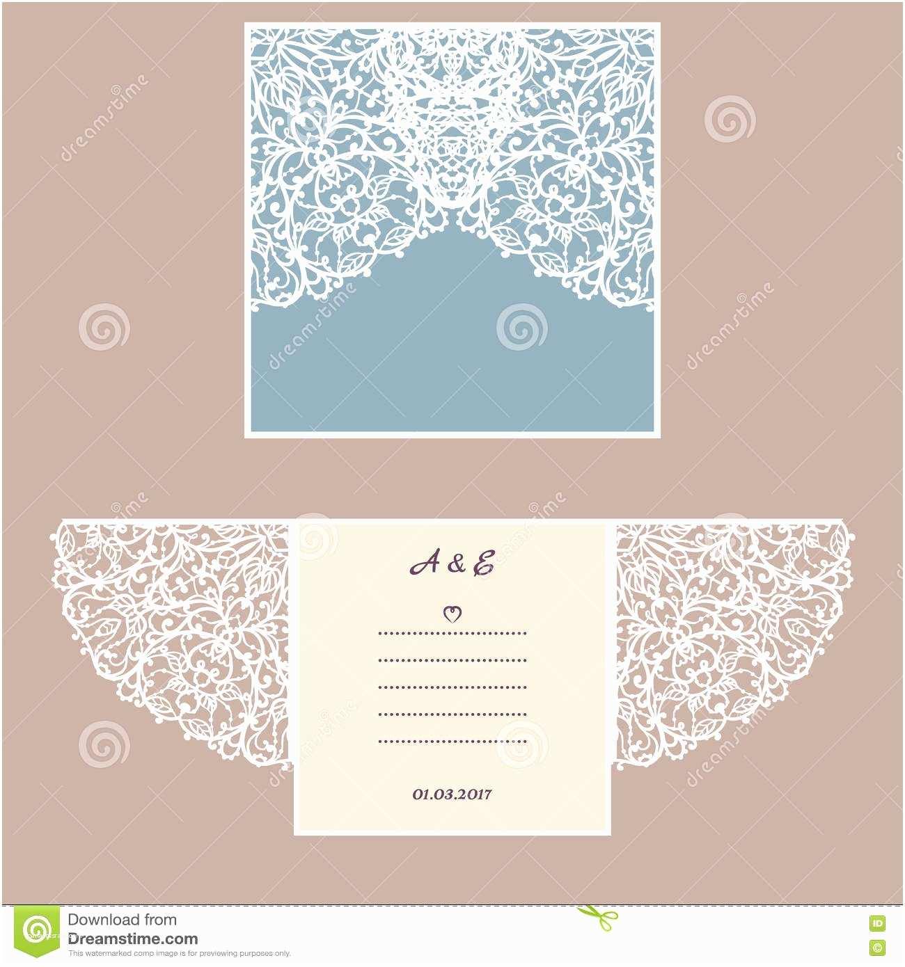 Wedding Invitation Envelope Template Laser Cut Envelope Template for Invitation Wedding Card