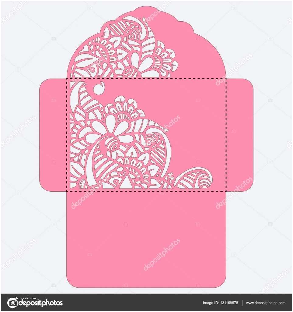Wedding Invitation Envelope Template Lasercut Vector Wedding Invitation Template Wedding