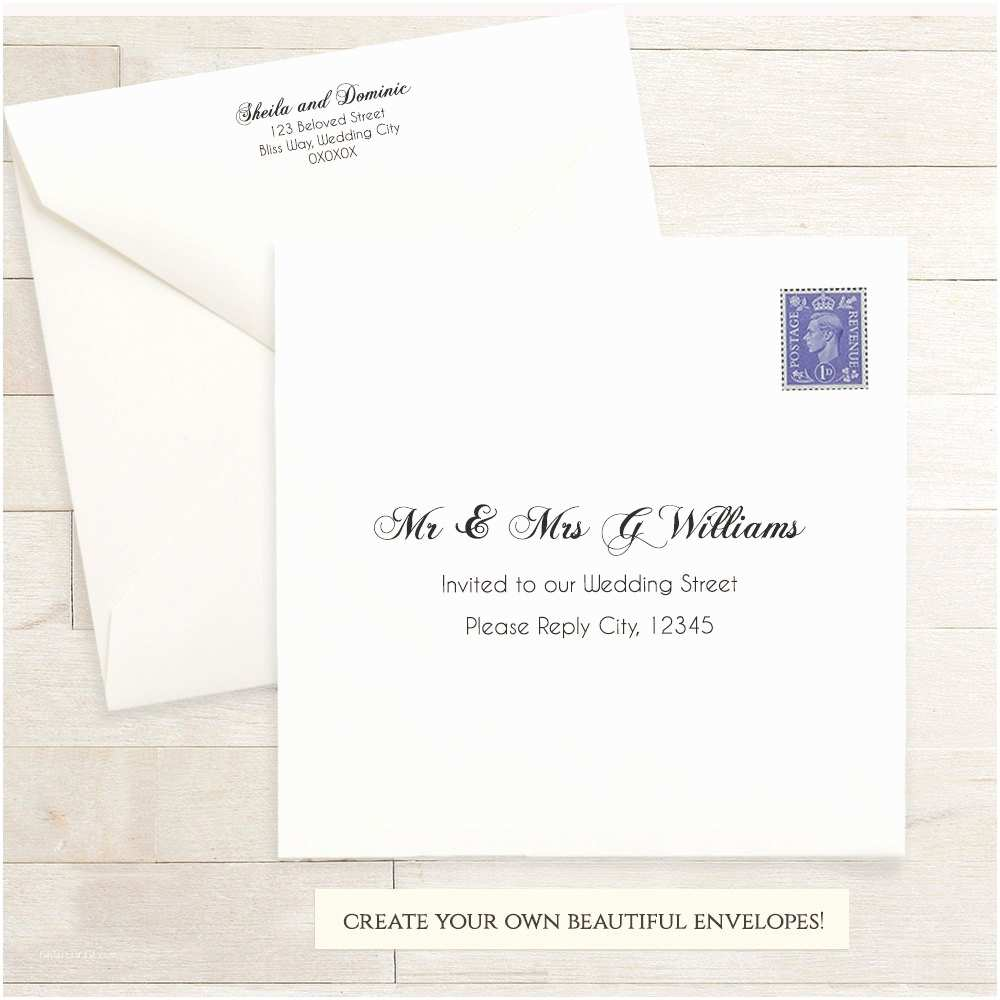 Wedding Invitation Envelope Template Printable Wedding 6x6 Envelope Template 6 X 6 Invitation
